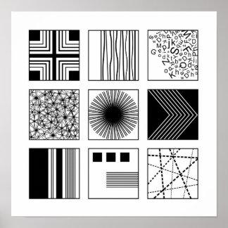 """""""Experiment"""" // Black & White Modern Poster"""