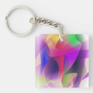 Experiment Customizable Background Double-Sided Square Acrylic Keychain