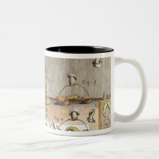 Experiment on frogs Two-Tone coffee mug