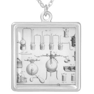 Experiment on the decomposition of water square pendant necklace