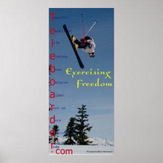 Experimentación de la libertad póster