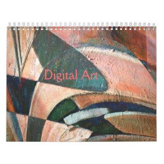 Experimental Abstract Digital Art Calendar