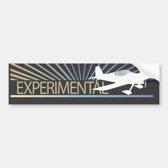 Experimental Aircraft Bumper Sticker