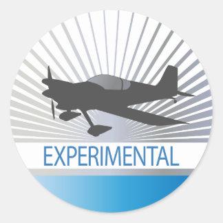 Experimental Aircraft Classic Round Sticker