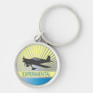 Experimental Aircraft Silver-Colored Round Keychain
