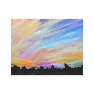 Experimental Landscape 2 Canvas Print