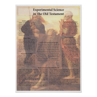 Experimental Science in the Old Testament Poster
