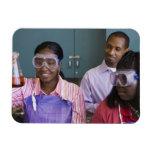 Experimento de examen del adolescente africano ade imanes de vinilo