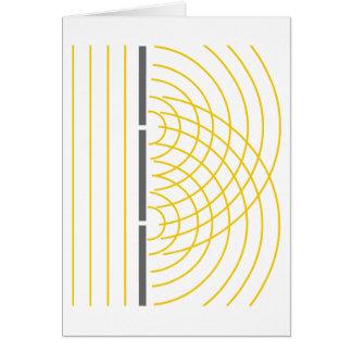 Experimento de la ciencia de la partícula de la tarjeta de felicitación