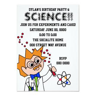 """Experimento de la ciencia invitación 5"""" x 7"""""""