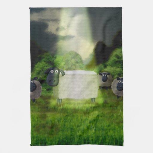 Experimento extranjero de las ovejas toalla de mano