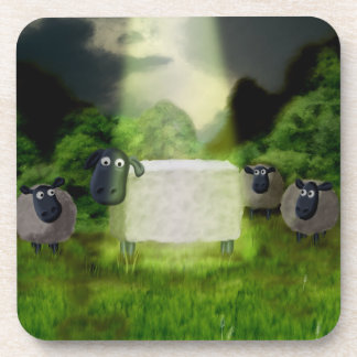 Experimento extranjero de las ovejas posavasos