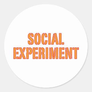 Experimento social pegatina redonda