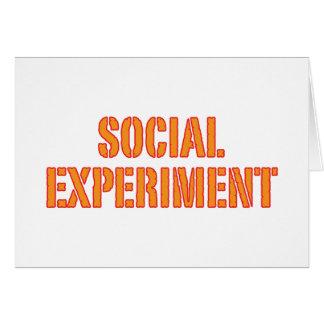 Experimento social tarjeta de felicitación