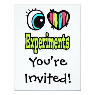 """Experimentos brillantes del amor del corazón I del Invitación 4.25"""" X 5.5"""""""