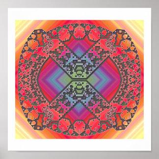 Experimentos del fractal posters