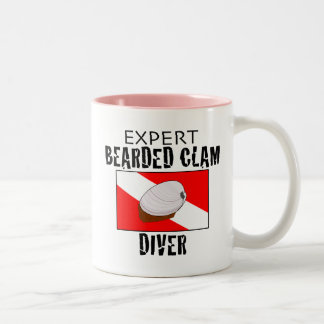 Expert Bearded Clam Diver Two-Tone Coffee Mug