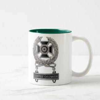 Expert Coffee Drinker Badge Two-Tone Coffee Mug
