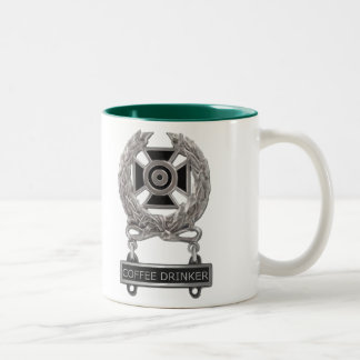 Expert Coffee Drinker Badge Two-Tone Coffee Mug