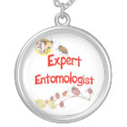 Expert Entomologist Silver Plated Necklace