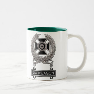 Expert Jackwagon Badge Two-Tone Coffee Mug