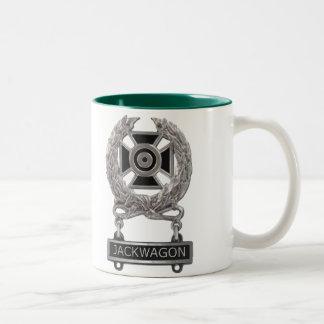 Expert Jackwagon Badge Two-Tone Coffee Mug
