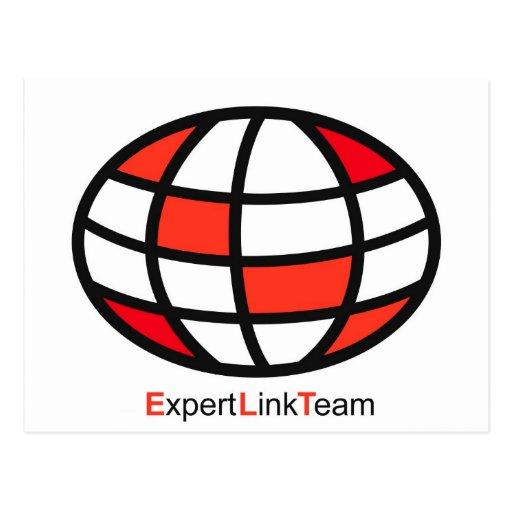 Expert Link Team Logo Post Card