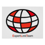 Expert Link Team Logo Print
