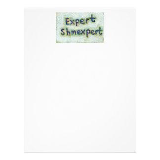 Expert shmexpert trust your instincts fun word art letterhead