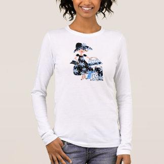 Expert Shopper in Blue Long Sleeve T-Shirt
