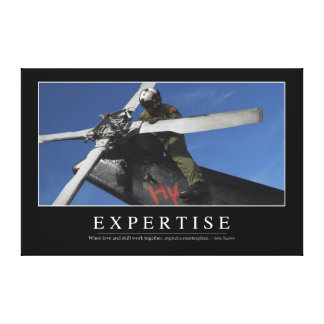 Expertise: Inspirational Quote Canvas Print