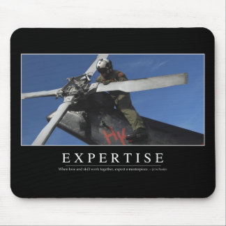 Expertise: Inspirational Quote Mouse Pad