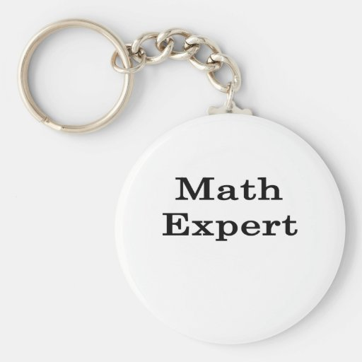 Experto de la matemáticas llavero redondo tipo pin