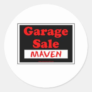 Experto de la venta de garaje pegatina redonda