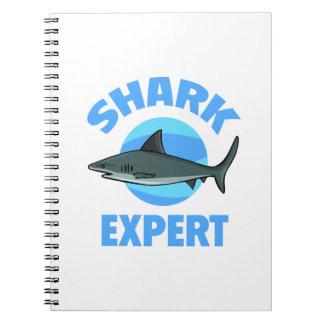 Experto del tiburón libretas espirales