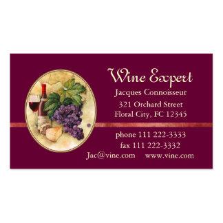 Experto del vino tarjetas de visita