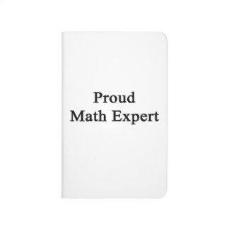 Experto orgulloso de la matemáticas cuaderno grapado