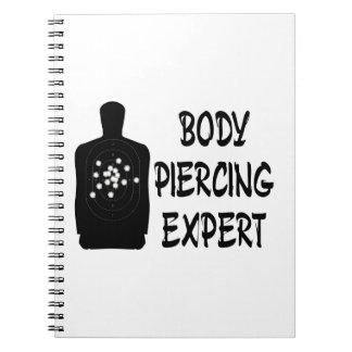 Experto Piercing del cuerpo Libreta