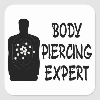 Experto Piercing del cuerpo Calcomanía Cuadradase