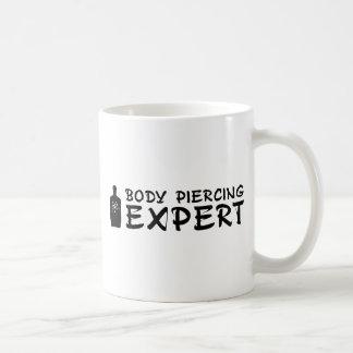 Experto Piercing del cuerpo Tazas De Café