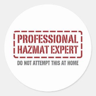 Experto profesional de Hazmat Etiquetas Redondas