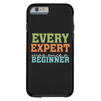 Experto una vez que un principiante él caso duro funda de iPhone 6 tough