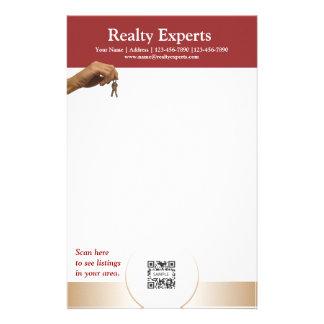Expertos de los bienes raices de la plantilla de l papeleria personalizada