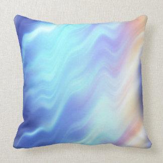 Expiración colorida de la tormenta azul eléctrica cojin