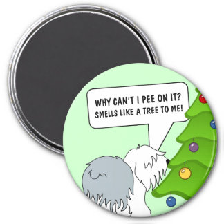 Explain the meaning of Christmas to your dog now! 3 Inch Round Magnet