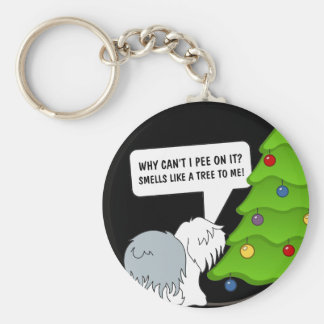 Explain the meaning of Christmas to your dog now! Keychain
