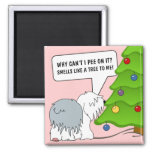 Explain the meaning of Christmas to your dog now! Fridge Magnet