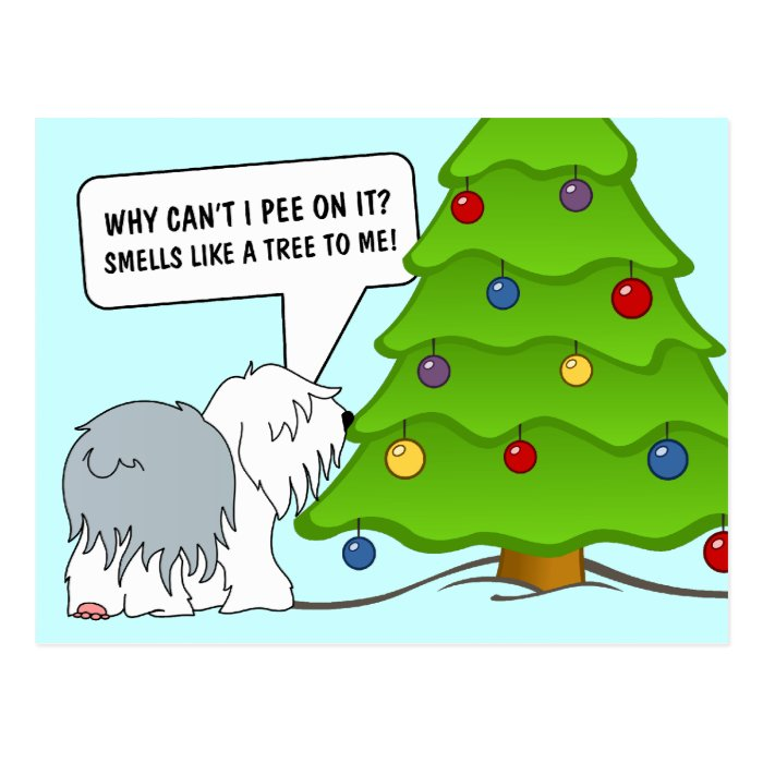 Explain the meaning of Christmas to your dog now! Postcard