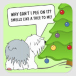 Explain the meaning of Christmas to your dog now! Stickers