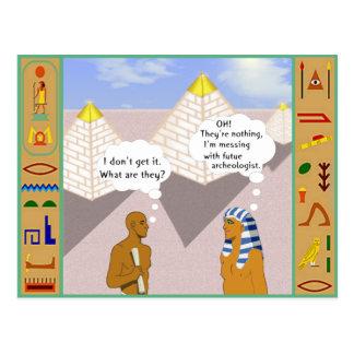 Explaining the Pyramids Postcard
